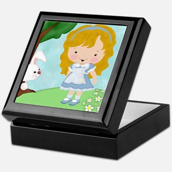 Alice_White_Rabbit Keepsake Box