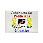 Debate Politicans Support Our Coasties Rectangle