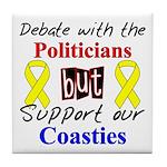 Debate Politicans Support Our Coasties Tile Coast