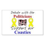 Debate Politicans Support Our Coasties Sticker (R
