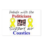 Debate Politicans Support Our Coasties Postcards