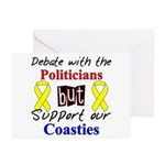 Debate Politicans Support Our Coasties Greeting C