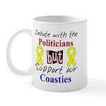Debate Politicans Support Our Coasties Mug