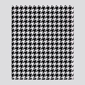 Houndstooth Check Throw Blanket