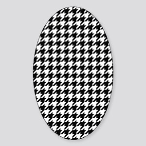 Houndstooth Check Sticker (Oval)