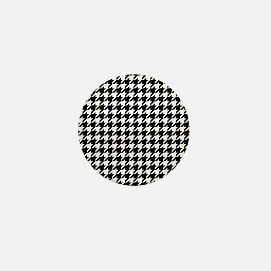Houndstooth Check Mini Button
