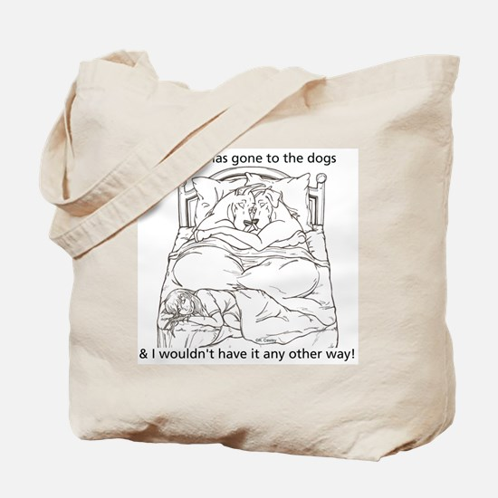 CN L to dogs Tote Bag