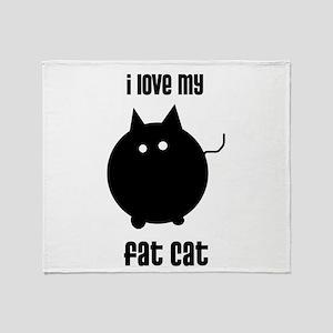 Fat Cat Throw Blanket