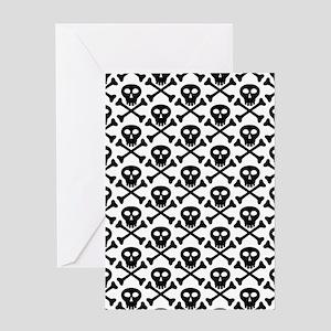 Black White Skulls Greeting Card
