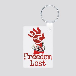 Freedom Lost Aluminum Photo Keychain