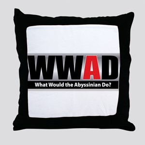 What Abyssinian Throw Pillow