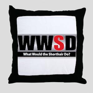 What Shorthair Throw Pillow