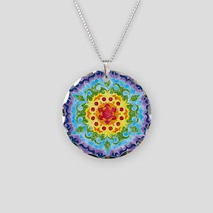 CrownMandalaClock Necklace Circle Charm