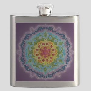 CrownMandalaClock Flask