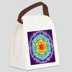 CrownMandalaClock Canvas Lunch Bag