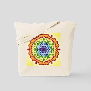 SolarPlexusMandalaClock Tote Bag