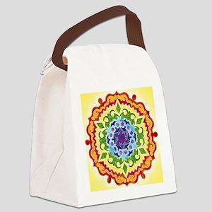 SolarPlexusMandalaClock Canvas Lunch Bag