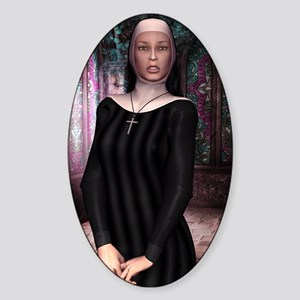 SAINT_Teresa_postcard Sticker (Oval)