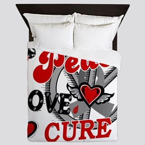 D Peace Love Cure 2 Diabetes Queen Duvet