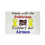 Debate Politicians Support our Airmen Rectangle M