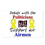 Debate Politicians Support our Airmen Postcards (
