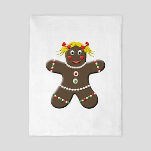 Gingerbread Girl Christmas Twin Duvet
