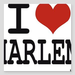 """I love Harlem Square Car Magnet 3"""" x 3"""""""