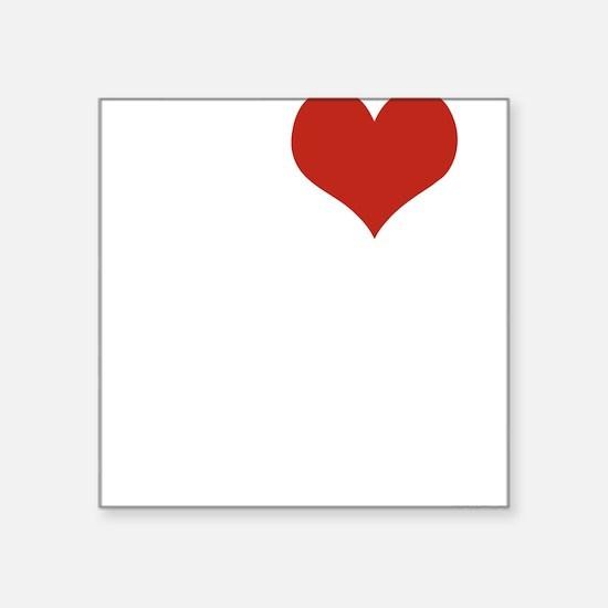 "I love Hong Kong Square Sticker 3"" x 3"""