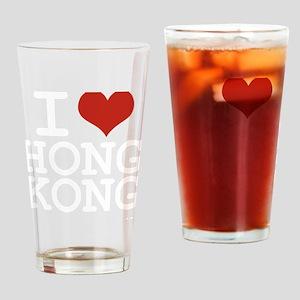 I love Hong Kong Drinking Glass