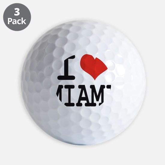 I love Miami Golf Ball
