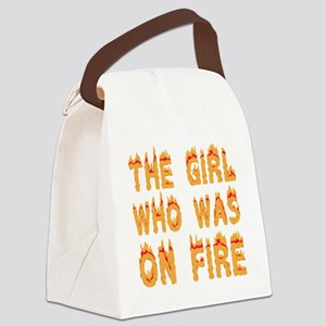 girlonfiredark Canvas Lunch Bag