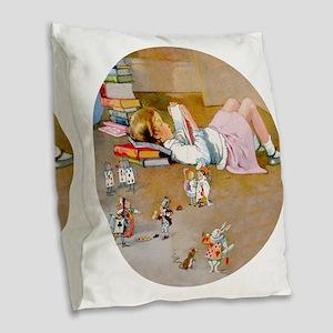 trip to wonderland RD copyx Burlap Throw Pillow