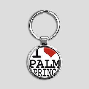 I love Palm Springs Round Keychain