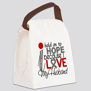 D Hope For My Husband Brain Tumor Canvas Lunch Bag
