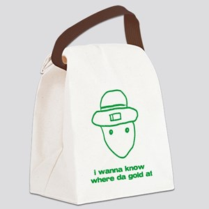 leprchaungoldatgrn Canvas Lunch Bag