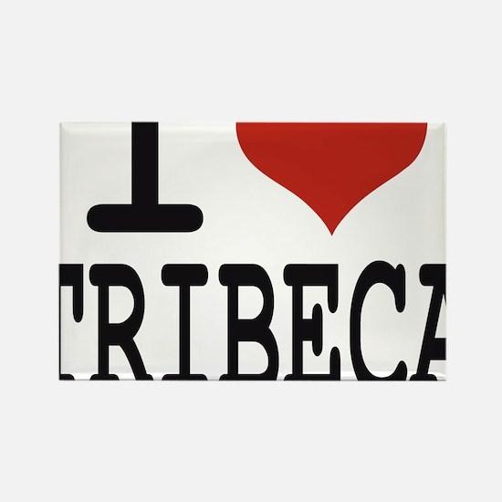 I love Tribeca Rectangle Magnet
