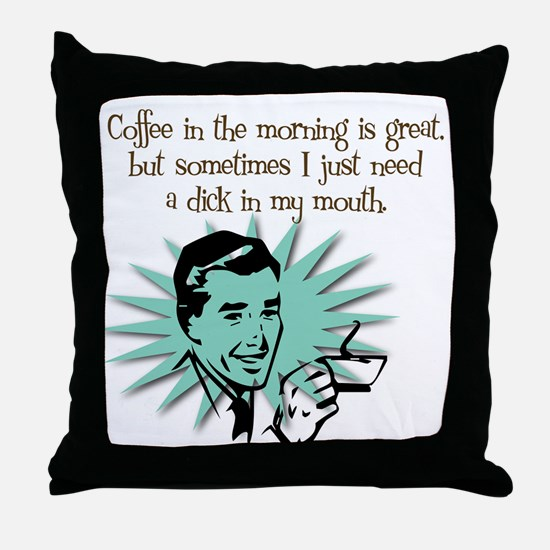 Coffee in the A.M. Throw Pillow