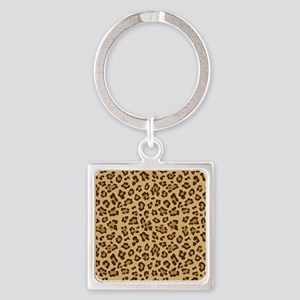 Cheetah Square Keychain