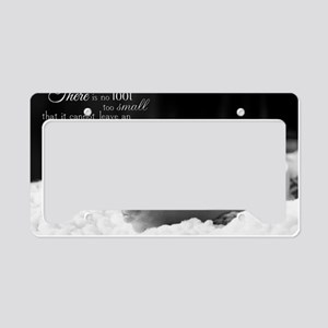 footprint License Plate Holder