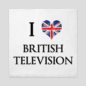 I Love British Television Queen Duvet