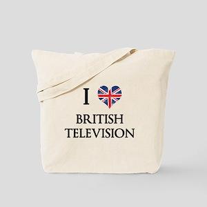 I Love British Television Tote Bag