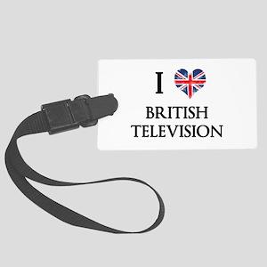 I Love British Television Luggage Tag