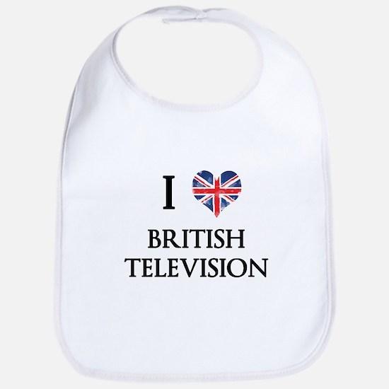 I Love British Television Bib