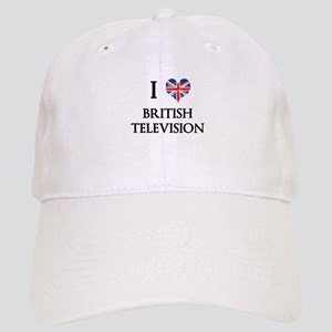 I Love British Television Baseball Cap