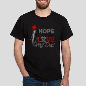D Hope For My Dad Brain Tumor Dark T-Shirt