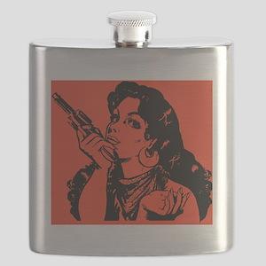 grrr-tile red Flask