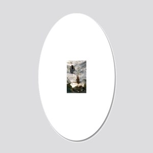 rbrussell framed panel print 20x12 Oval Wall Decal