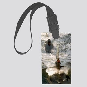 rbrussell framed panel print Large Luggage Tag