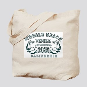 Muscle Beach Tote Bag