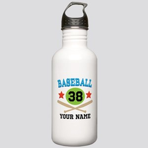 Personalized Hockey Player Number Stainless Water